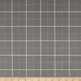 Kaufman Framework Flannel Gridwork Grey Fabric