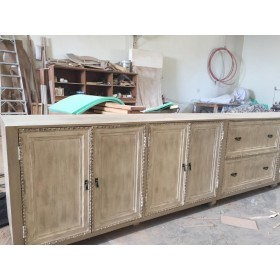 Antique wooden buffet