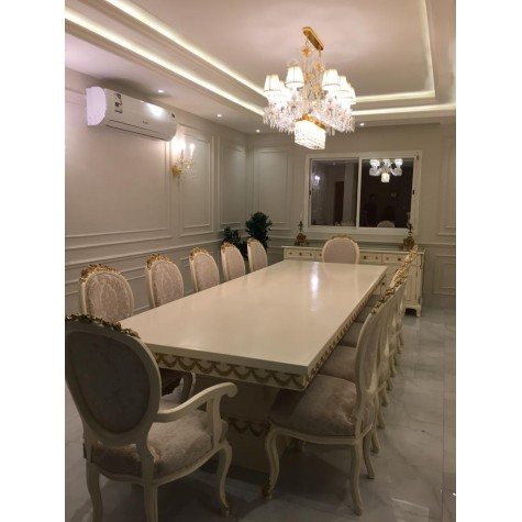 12-chair dining table with buffet