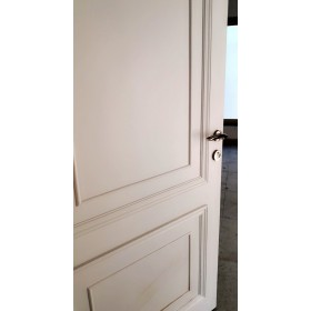 White half-solid door