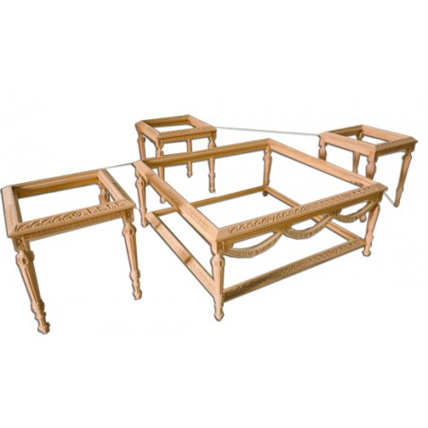Beech wood set 4 pieces